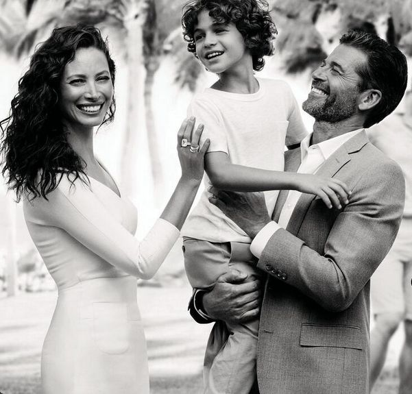 Christy Turlington with her family.