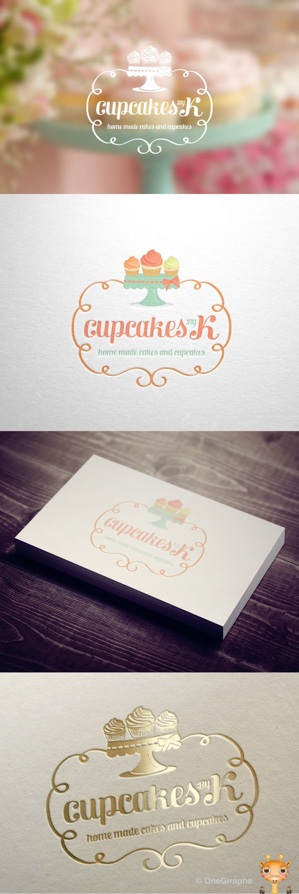 Cupcakes by K - Logo for Sale! by OneGiraphe , via Behance