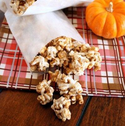 White Chocolate Pumpkin Spice Caramel Corn