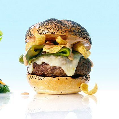 Mexico Green Chile and Frito Burgers _ Chiles spice up these burgers ...