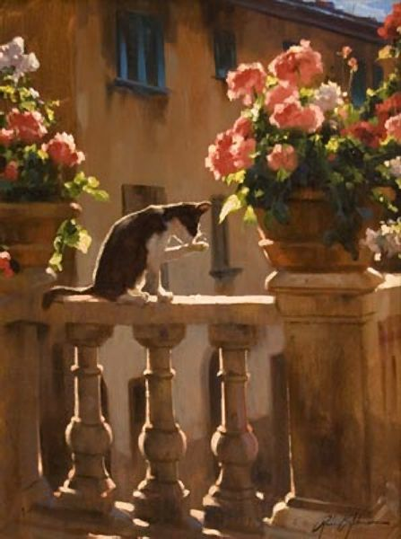 Sunlid Balcony by Richard Johnson