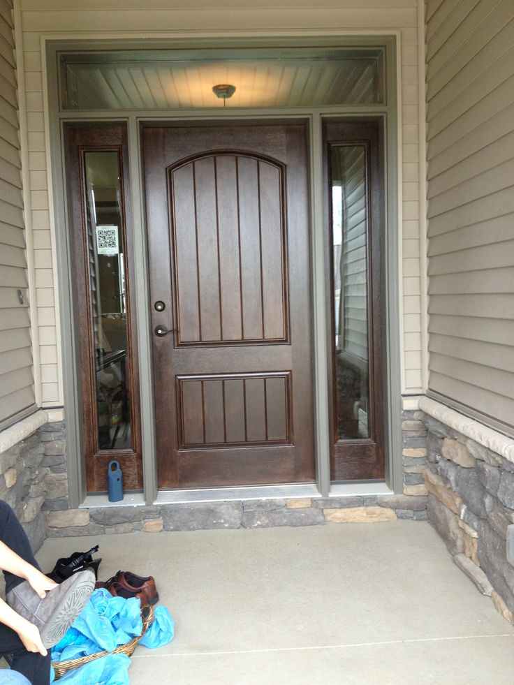 Front door with side and transom windows front doors for Exterior side door with window