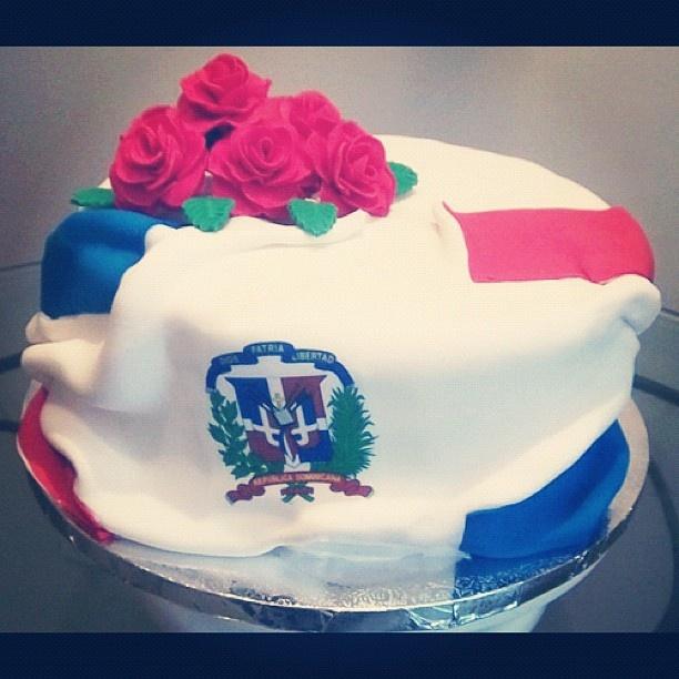 Dominican Flag Birthday Cake