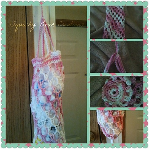 Crochet Pattern For Trash Bag Holder : Cotton Trash Bag Holder by Squishy Bear Creations pattern ...