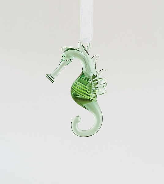 """Sea Horse"" Art Glass Ornament Created by WGK Glass"