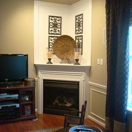 Corner Fireplaces Frame A Corner Fireplace