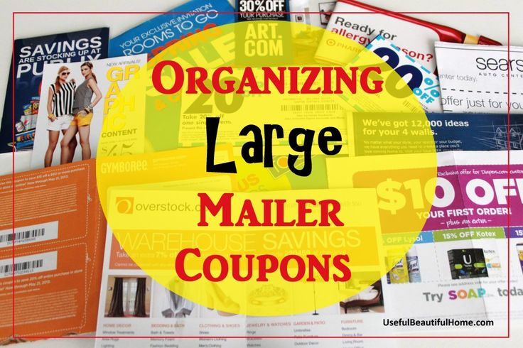 This is a great way to organize your LARGE mailer coupons.