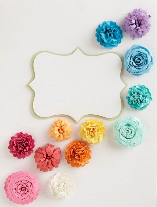 Tutorial on 3 types of paper flowers - LOVE the colors, too! Definitely giving these a try!