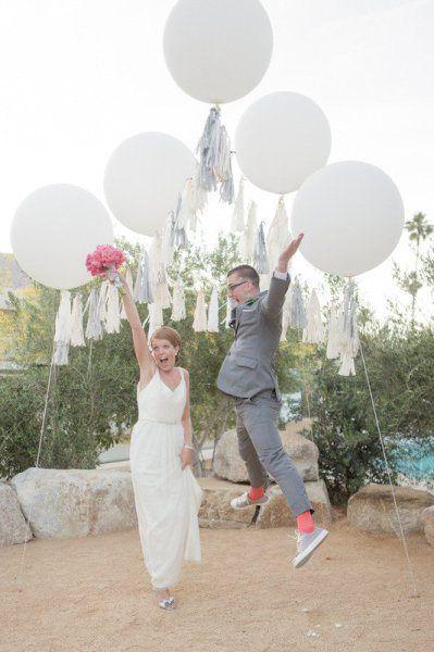 mariage ballon tassel ponpom  Déco Mariage  Pinterest