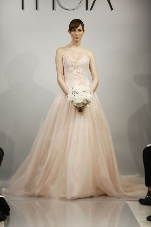Theia Blush Colored Wedding Dress Bridal Pinterest