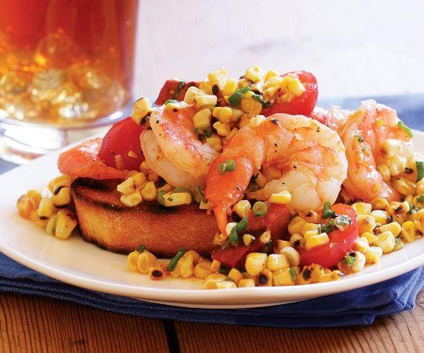 Grilled Corn, Shrimp & Chorizo Salad | Recipe