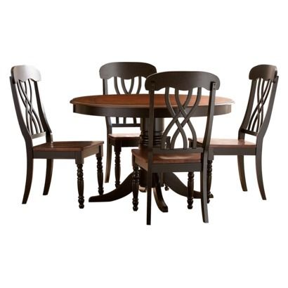 5 Piece Countryside Round Table Set - Antique Black  - Target.com