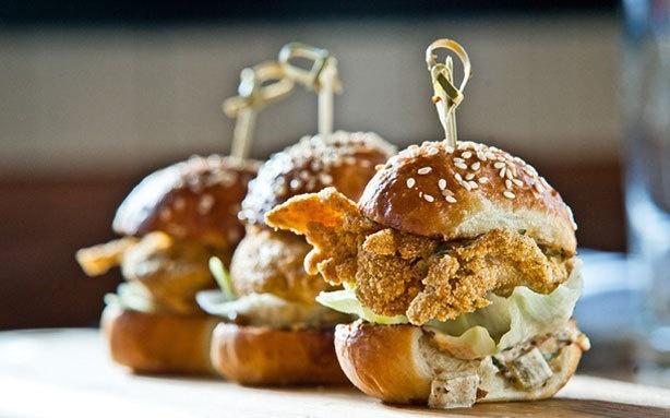 Fried Oyster Po' Boy Sliders! | A Girl's Gotta Eat | Pinterest