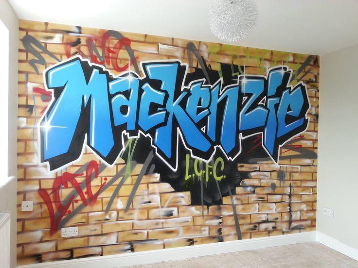 Children Teen Kids Bedroom Graffiti Mural Handpainted Graffiti