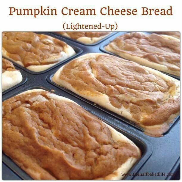 Pumpkin cream cheese bread lightened up | Favorite Recipies | Pintere ...