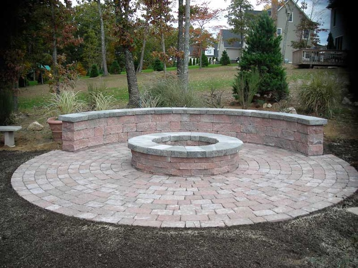 Fire Pit Bench With Pavers Outdoor Comfort Pinterest