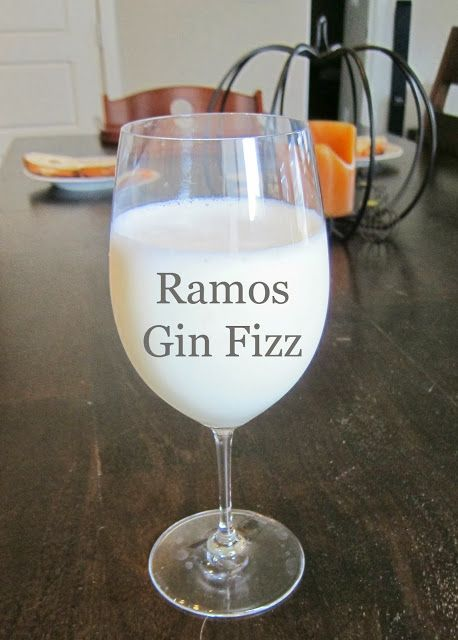 The Ramos Gin Fizz: best hangover cure ever! Or just a good brunch ...