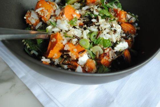 Roasted Sweet Potato, Feta, and Wild Rice Salad | Recipe