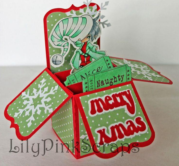 LilyPinkScraps: Naughty or nice? | Christmas Cards | Pinterest: pinterest.com/pin/428827195741139263