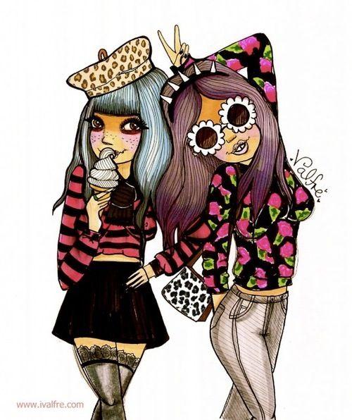 Cartoon hipsters :3 | Hippie Culture /_\ | Pinterest
