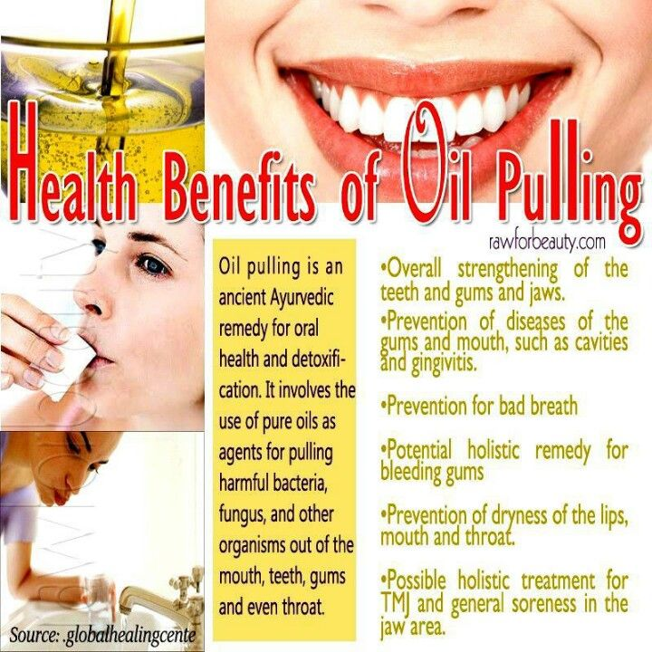 Oil pulling. want to do this with coconut oil!