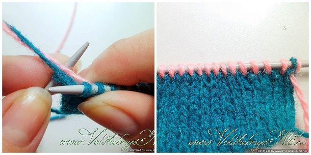 Как присоединить нити к спице с вязанием