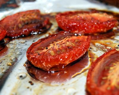 Baked Provolone With Tomatoes, Marjoram, And Balsamic Recipes ...