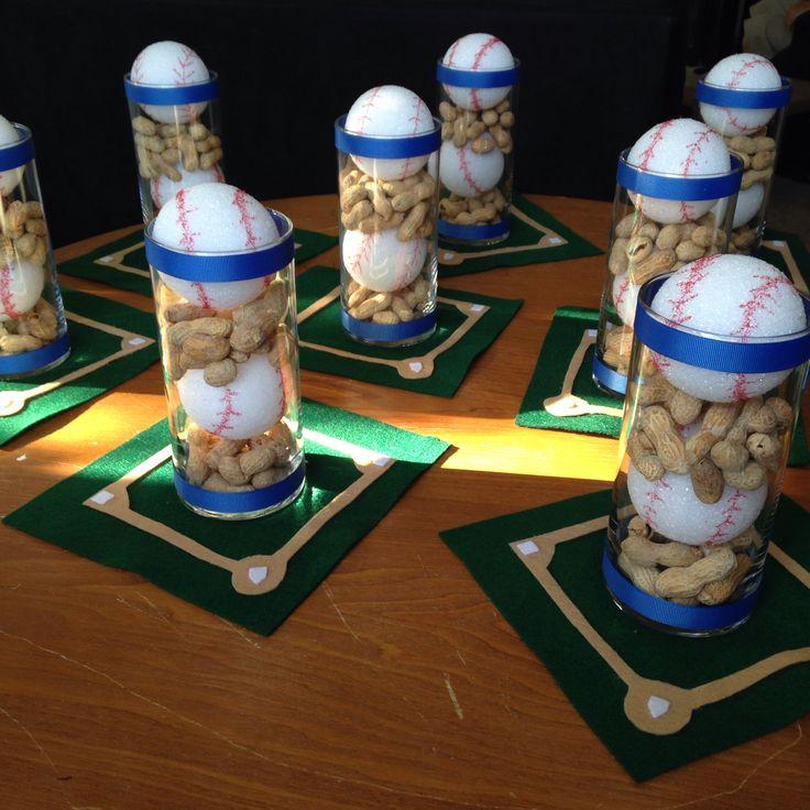 Banquet Centerpiece : Baseball banquet centerpieces stuff pinterest