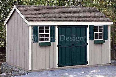 8 x 12 Storage Utility Garden Shed Plans, Design #10812