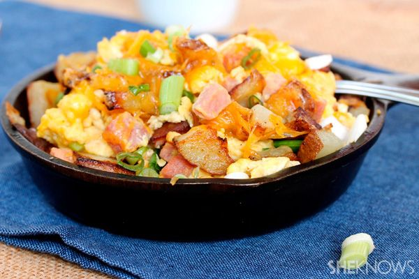 Fried potato, egg and ham scramble for breakfast this morning! Sided ...