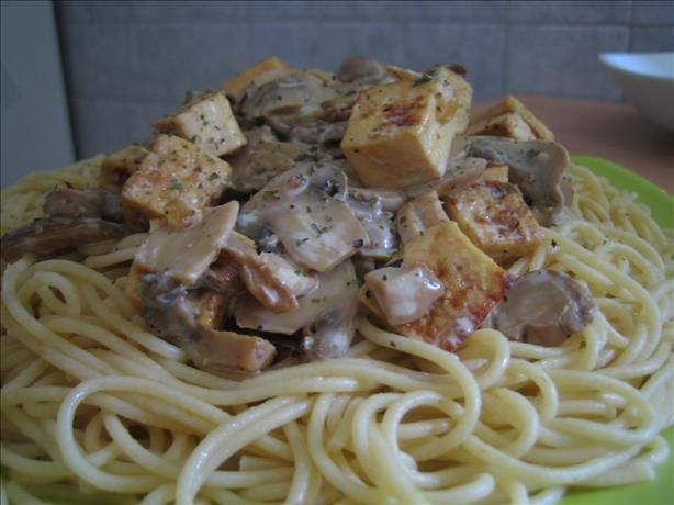 Mushroom Tofu Stroganoff | clean eating | Pinterest