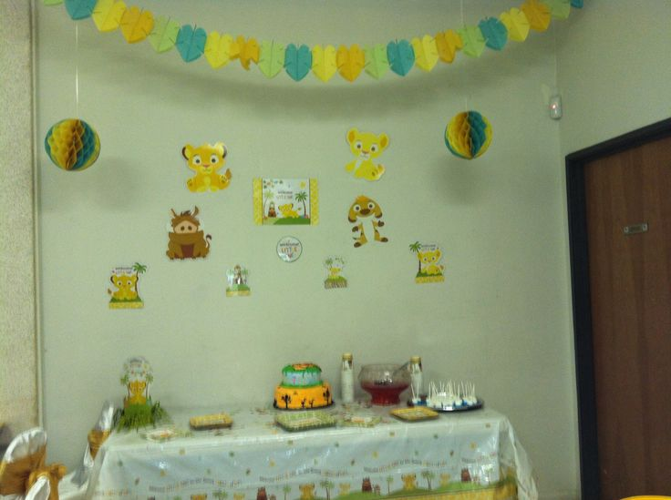 simba baby shower cake table baby shower pinterest