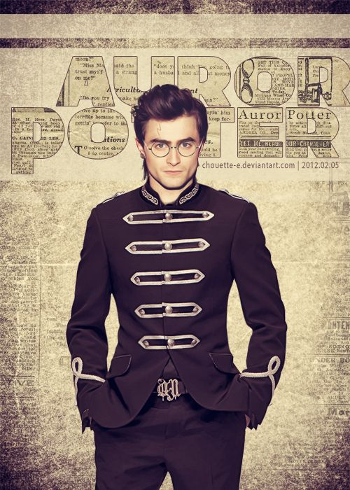 Harry Potter as an Auror. That's a pretty awesome uniform.