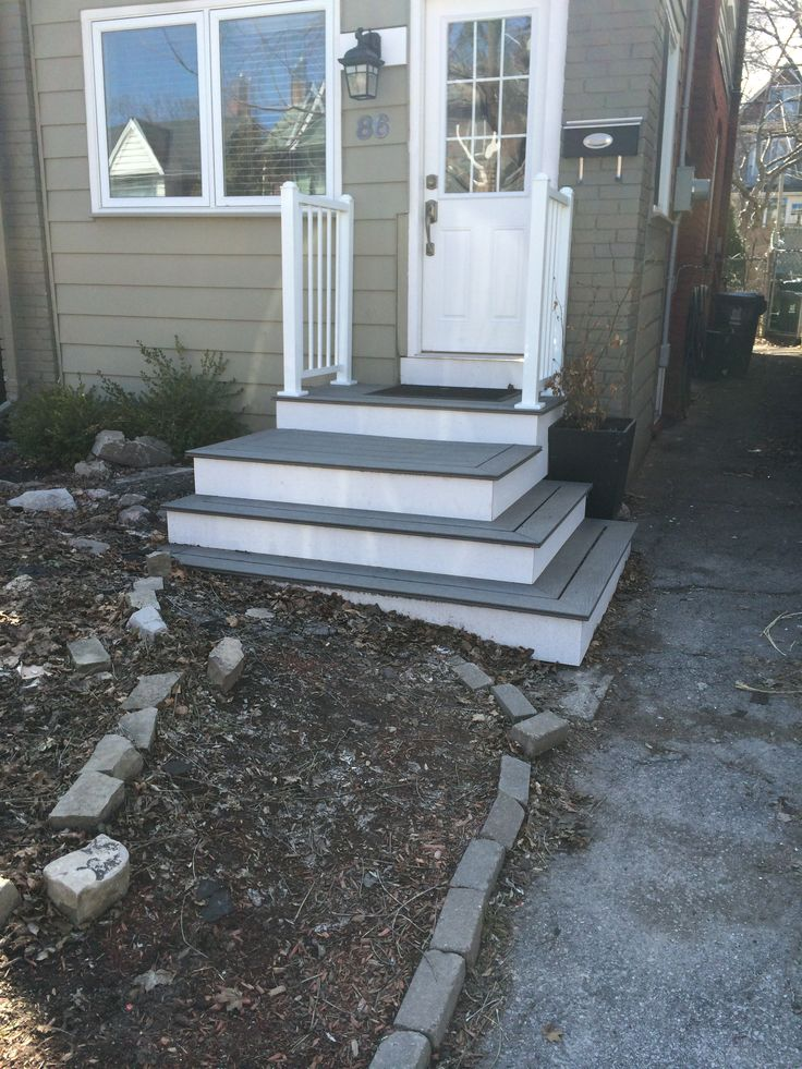 ideas for front porch steps front steps pinterest