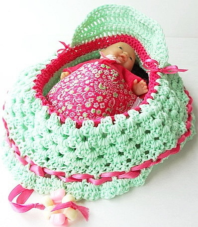 crochet cradle purse itty bitty baby doll church purse quiet book 47