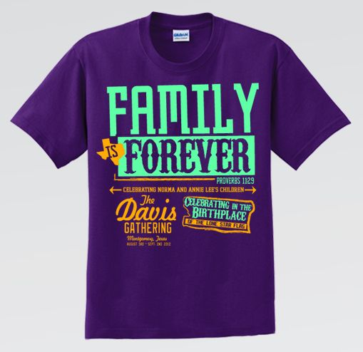 Family Reunion TShirts and Design Templates  Spreadshirt