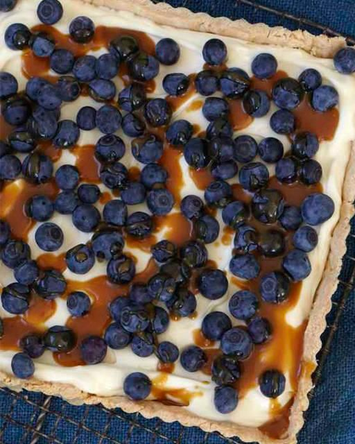 Blueberry Tart with Caramel Sauce | Recipe