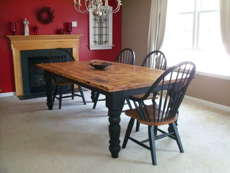 2 Tone Farm Table For The Home Pinterest