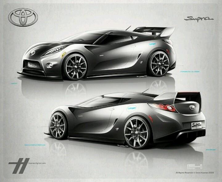 Toyota celica wide body kit car tuning - Toyota Supra Concept Rendering Car Design Pinterest