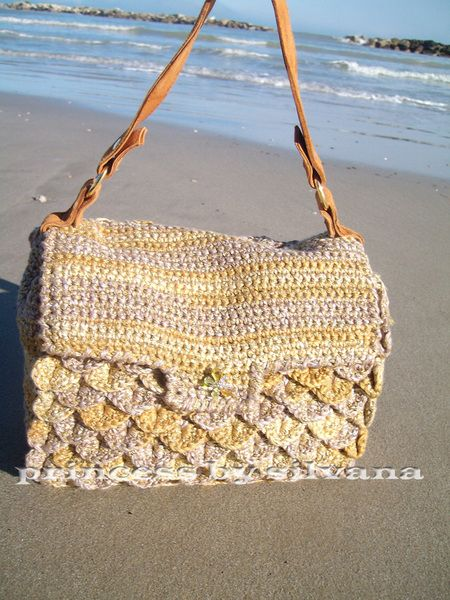 Handbag - BEAUTIFUL CROCO CROCHET BAG - a unique product by ...