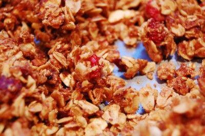Orange Cranberry Granola | Allergy free | Pinterest