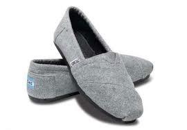 Grey tom tom shoes