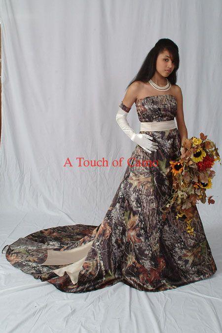 Southern Wedding Dresses With Camo Super camo wedding dress