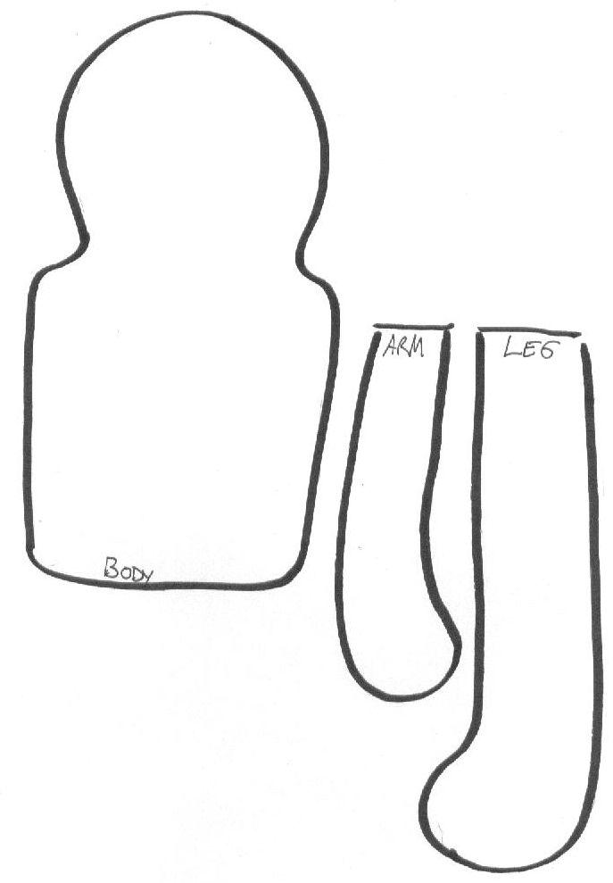 свободные образцы тряпичная кукла для печати | SOFT Кукла шаблон-Простая от = Fyuvix на DeviantArt