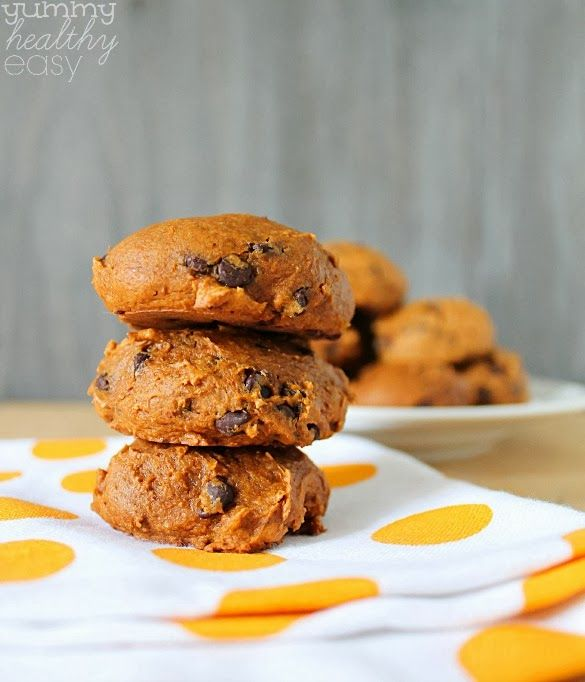 ... Pumpkin Cookies with only three ingredients that are moist and low fat