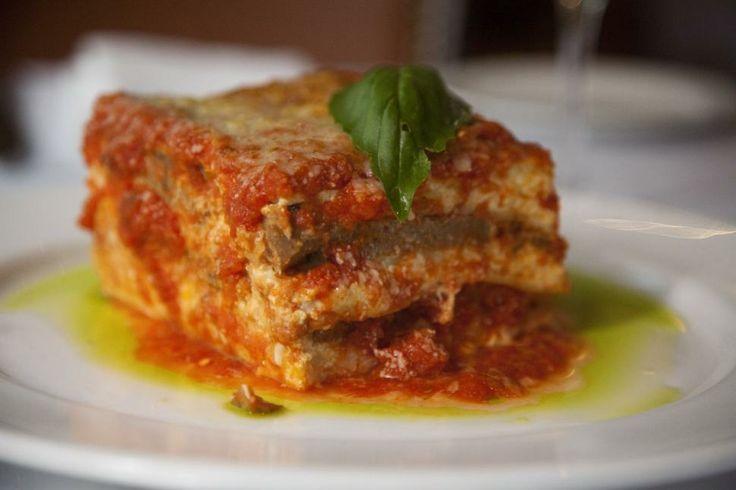 Meatball Lasagna at Fresco by Scotto Restaurant