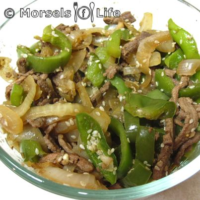 Beef with Green Peppers - Morsels of Life