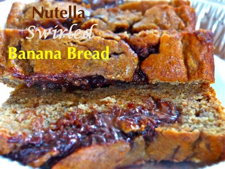 Nutella Swirled Banana Bread | Quick Breads, Muffins, and Snacks | Pi ...