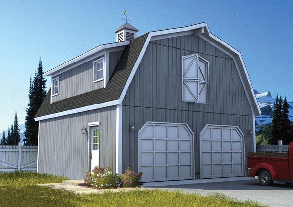 Country Farmhouse Garage Plan 6007