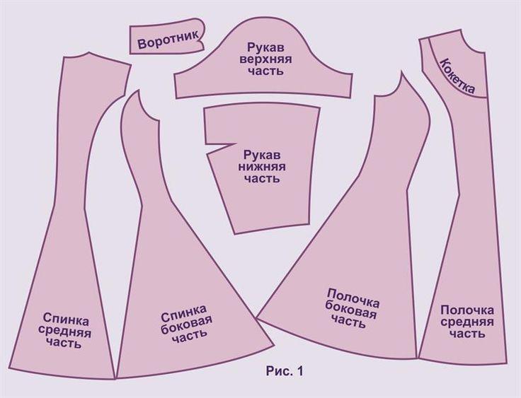 Выкройка ткани платья